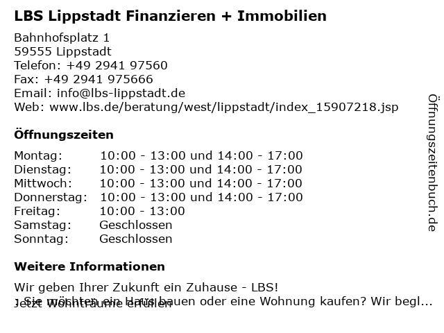 LBS in Lippstadt: Adresse und Öffnungszeiten