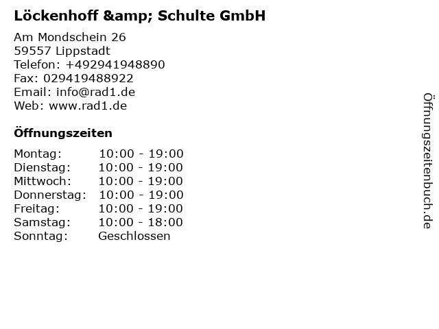 Löckenhoff & Schulte GmbH in Lippstadt: Adresse und Öffnungszeiten
