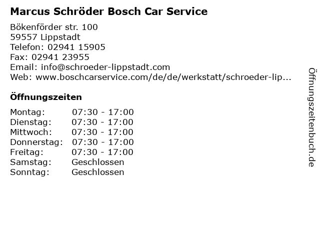 Bosch Car Service in Lippstadt: Adresse und Öffnungszeiten