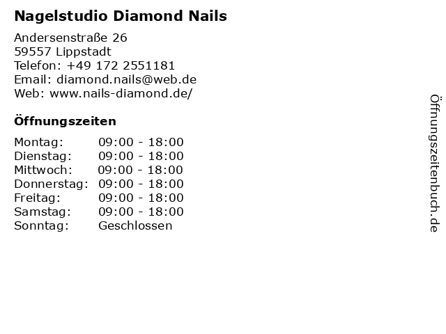 Nagelstudio Diamond Nails in Lippstadt: Adresse und Öffnungszeiten