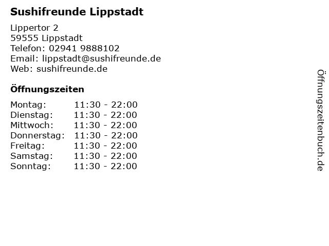 Sushifreunde Lippstadt in Lippstadt: Adresse und Öffnungszeiten