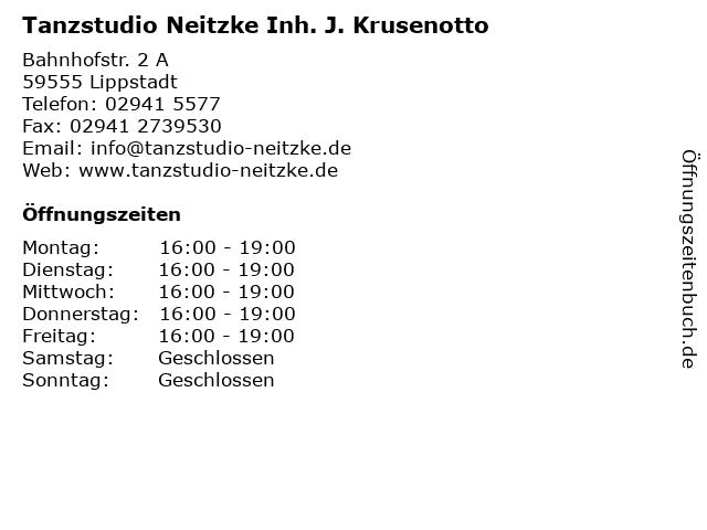 Tanzstudio Neitzke Inh. J. Krusenotto in Lippstadt: Adresse und Öffnungszeiten