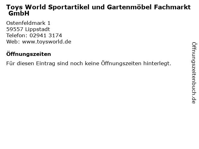 ᐅ Offnungszeiten Toys World Sportartikel Und Gartenmobel