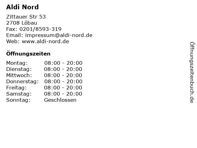 Aldi Nord in Löbau: Adresse und Öffnungszeiten