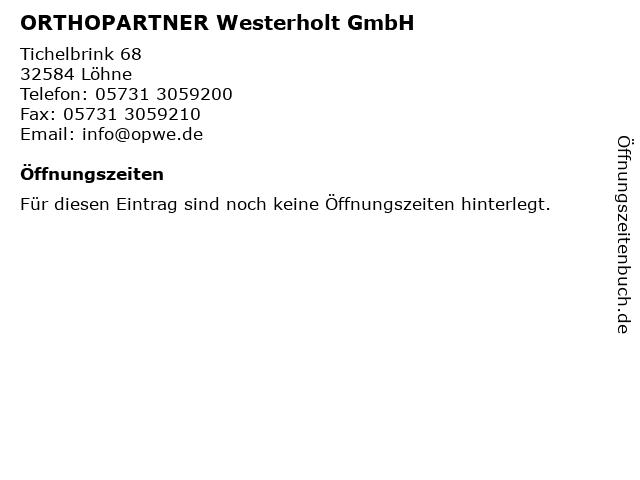 Sanitätshaus Westerholt in Löhne/Gohfeld: Adresse und Öffnungszeiten