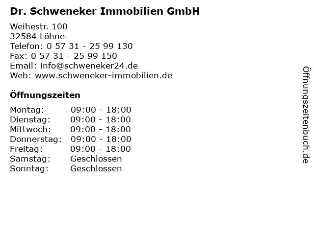 Dr. Schweneker Immobilien GmbH in Löhne: Adresse und Öffnungszeiten