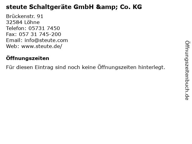 steute Schaltgeräte GmbH & Co. KG in Löhne: Adresse und Öffnungszeiten
