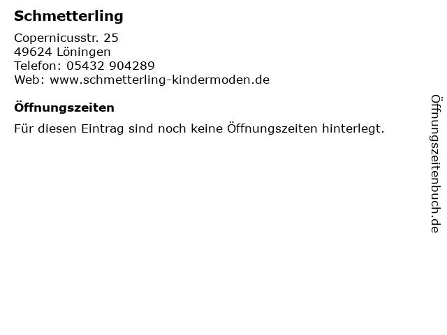 Schmetterling in Löningen: Adresse und Öffnungszeiten