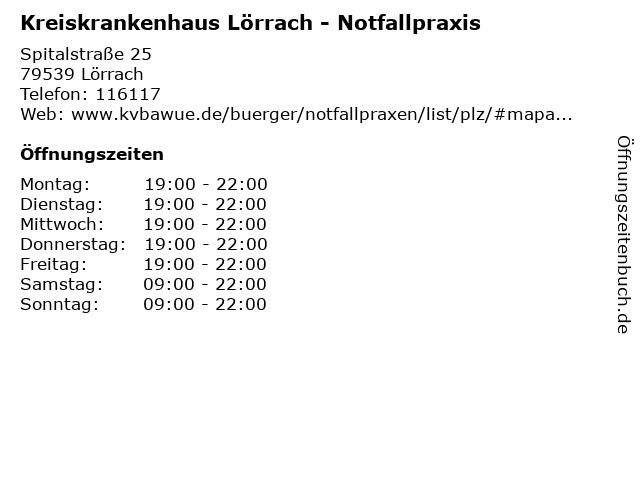 Kreiskrankenhaus Lörrach - Notfallpraxis in Lörrach: Adresse und Öffnungszeiten
