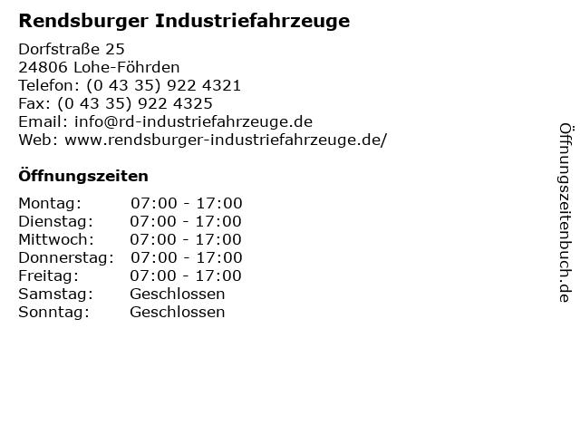 Rendsburger Industriefahrzeuge in Lohe-Föhrden: Adresse und Öffnungszeiten