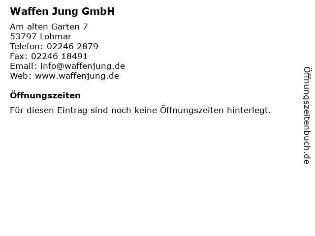 Waffen Jung GmbH in Lohmar: Adresse und Öffnungszeiten