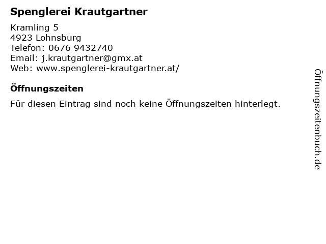 Spenglerei Krautgartner in Lohnsburg: Adresse und Öffnungszeiten