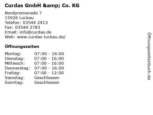 Curdas GmbH & Co KG in Luckau: Adresse und Öffnungszeiten