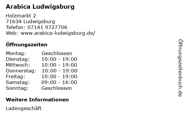 Arabica Ludwigsburg in Ludwigsburg: Adresse und Öffnungszeiten
