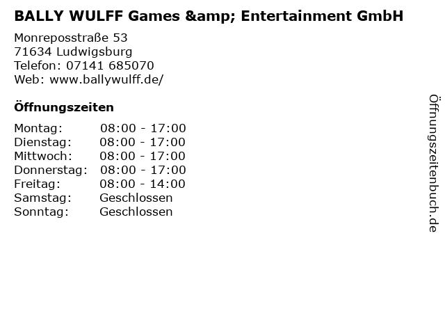 BALLY WULFF Games & Entertainment GmbH in Ludwigsburg: Adresse und Öffnungszeiten