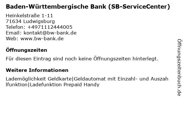 BW Bank Baden-Württembergische Bank in Ludwigsburg: Adresse und Öffnungszeiten