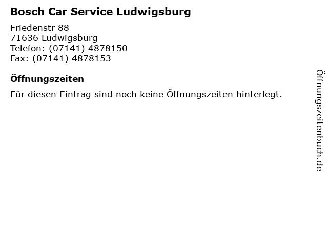 Bosch Car Service Ludwigsburg in Ludwigsburg: Adresse und Öffnungszeiten
