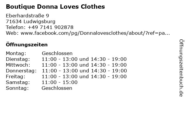 Boutique Donna Loves Clothes in Ludwigsburg: Adresse und Öffnungszeiten