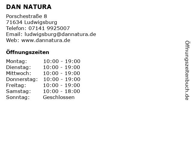 ᐅ Offnungszeiten Dan Natura Porschestrasse 8 In Ludwigsburg