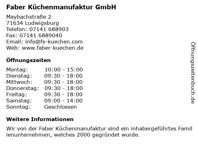 ᐅ Offnungszeiten Fs Kuchen Manufaktur Gmbh Ludwigsburg