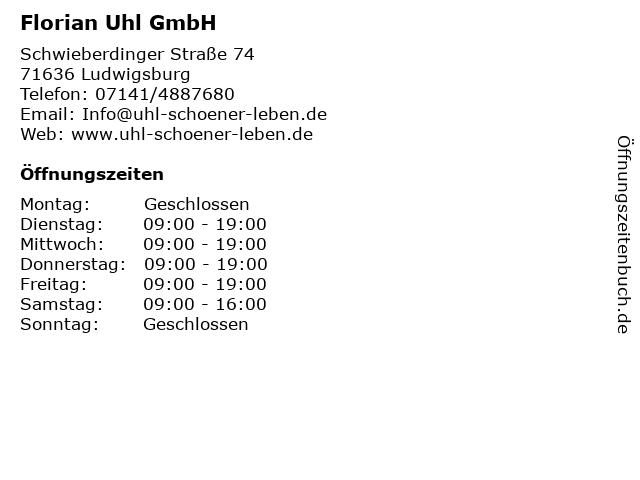 ᐅ Offnungszeiten Florian Uhl Gmbh Schwieberdinger