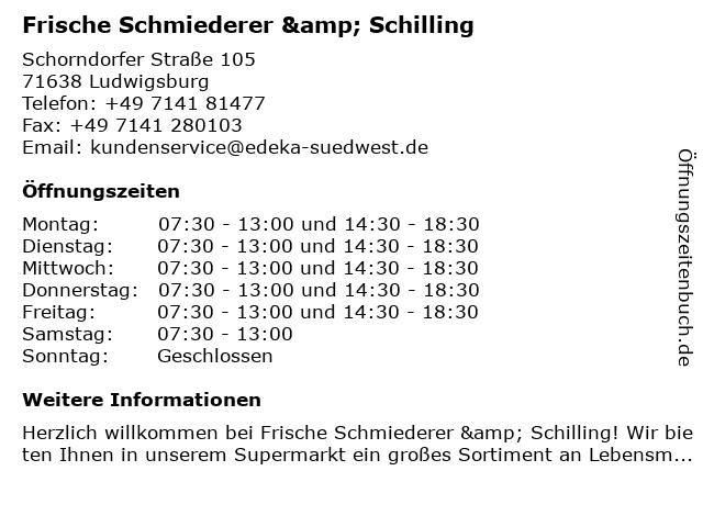 EDEKA in Ludwigsburg: Adresse und Öffnungszeiten