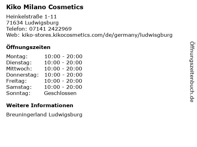 KIKO Germany GmbH in Ludwigsburg: Adresse und Öffnungszeiten