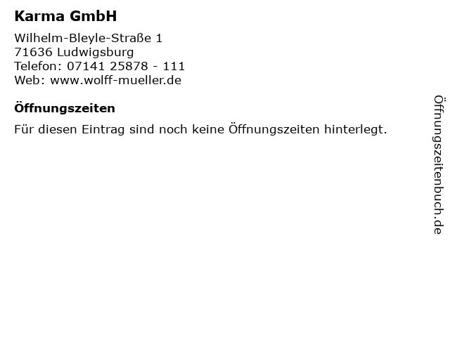 Karma GmbH in Ludwigsburg: Adresse und Öffnungszeiten