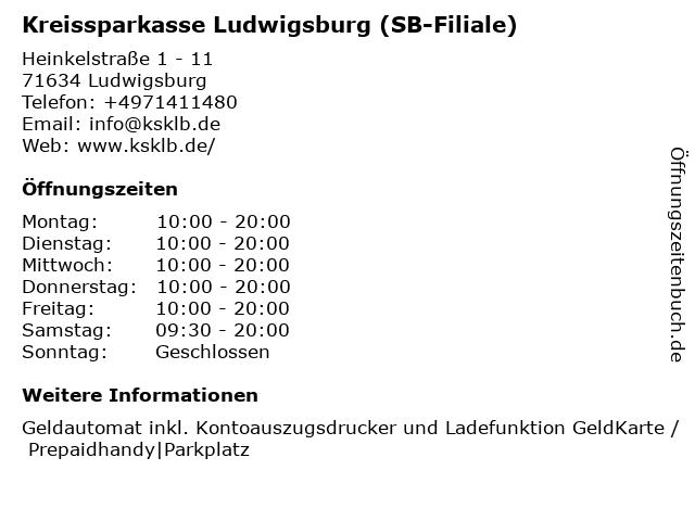 Kreissparkasse Ludwigsburg - (Geldautomat Ludwigsburg Breuningerland ) in Ludwigsburg: Adresse und Öffnungszeiten