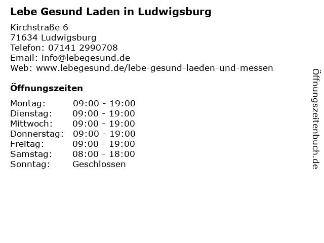 Lebe Gesund Laden in Ludwigsburg in Ludwigsburg: Adresse und Öffnungszeiten