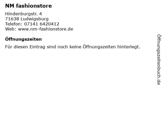 NM fashionstore in Ludwigsburg: Adresse und Öffnungszeiten