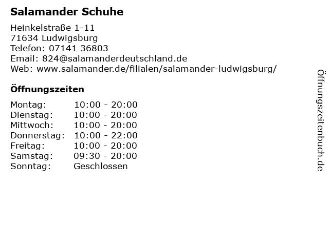 Salamander GmbH in Ludwigsburg: Adresse und Öffnungszeiten
