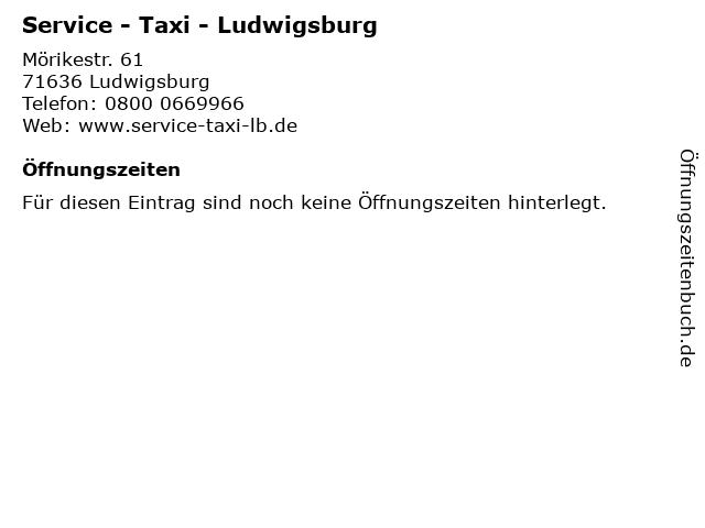 Service - Taxi - Ludwigsburg in Ludwigsburg: Adresse und Öffnungszeiten