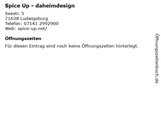 Spice Up - daheimdesign in Ludwigsburg: Adresse und Öffnungszeiten