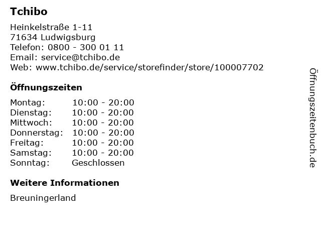 Tchibo Filiale mit Kaffee Bar in Ludwigsburg: Adresse und Öffnungszeiten