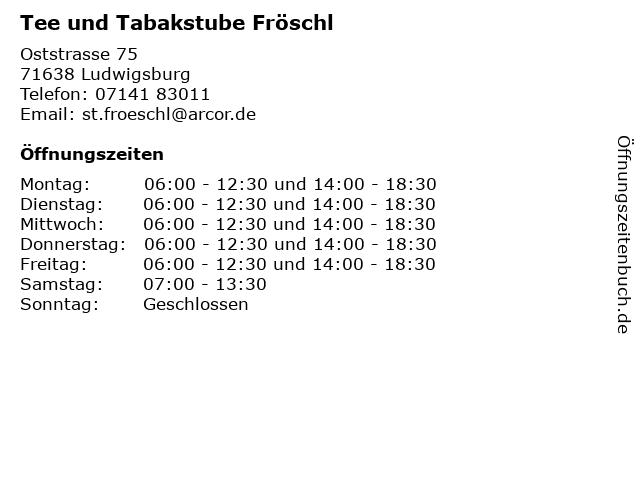 Tee und Tabakstube Fröschl in Ludwigsburg: Adresse und Öffnungszeiten