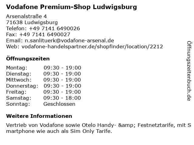 Vodafone Premium-Shop Ludwigsburg in Ludwigsburg: Adresse und Öffnungszeiten
