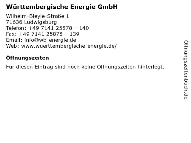 Württembergische Energie GmbH in Ludwigsburg: Adresse und Öffnungszeiten