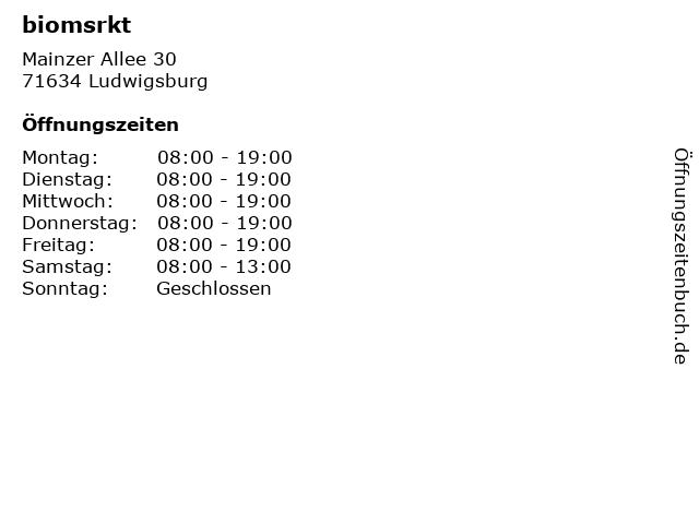 biomsrkt in Ludwigsburg: Adresse und Öffnungszeiten