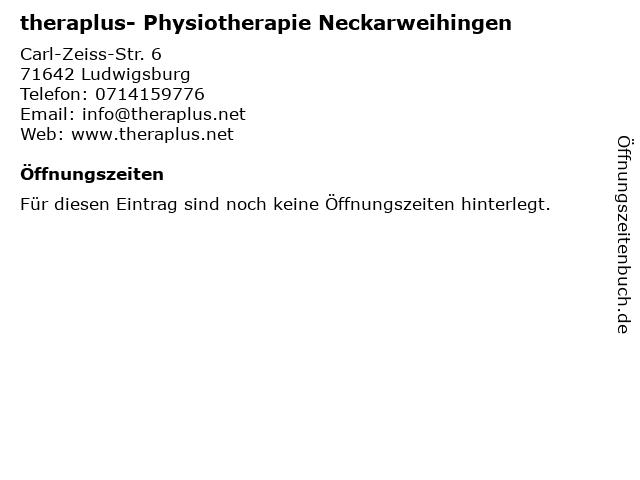 theraplus- Physiotherapie Neckarweihingen in Ludwigsburg: Adresse und Öffnungszeiten