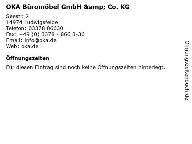 ᐅ Offnungszeiten Oka Buromobel Gmbh Co Kg Seestr 2 In