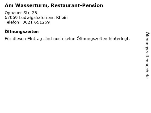 Am Wasserturm, Restaurant-Pension in Ludwigshafen am Rhein: Adresse und Öffnungszeiten