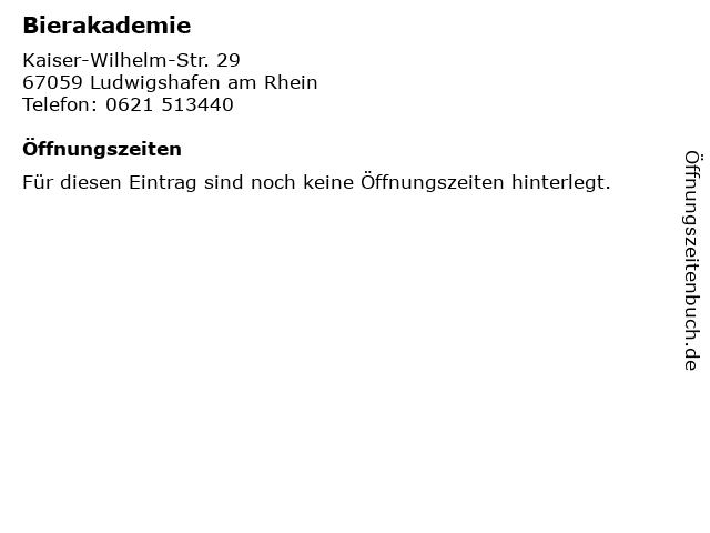 Bierakademie in Ludwigshafen am Rhein: Adresse und Öffnungszeiten