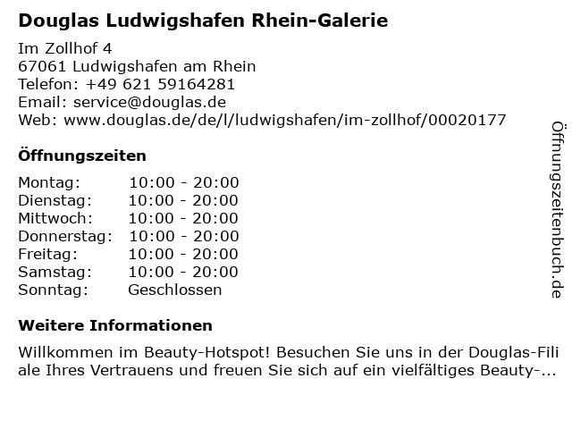 Parfümerie Douglas Ludwigshafen am Rhein in Ludwigshafen am Rhein: Adresse und Öffnungszeiten