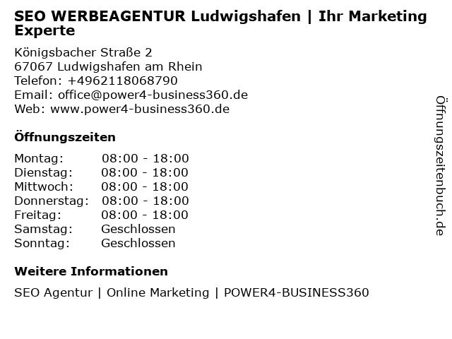 SEO WERBEAGENTUR Ludwigshafen   Ihr Marketing Experte in Ludwigshafen am Rhein: Adresse und Öffnungszeiten