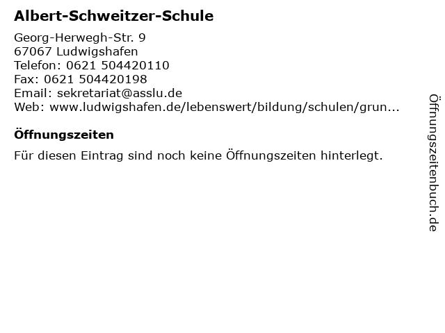 Albert-Schweitzer-Schule in Ludwigshafen: Adresse und Öffnungszeiten