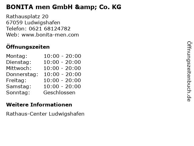 BONITA men GmbH & Co. KG in Ludwigshafen: Adresse und Öffnungszeiten