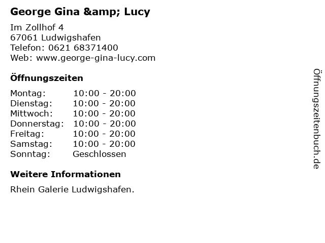 George Gina & Lucy in Ludwigshafen: Adresse und Öffnungszeiten