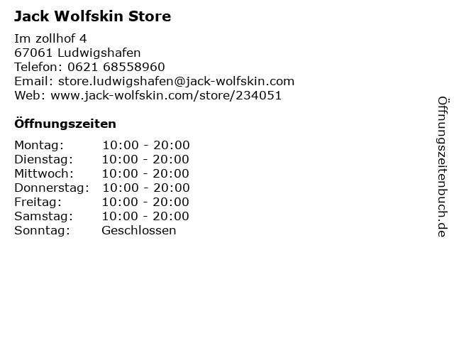 JACK WOLFSKIN Retail GmbH in Ludwigshafen: Adresse und Öffnungszeiten