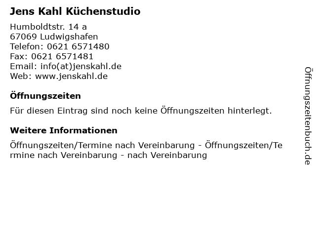 Jens Kahl Küchenstudio in Ludwigshafen: Adresse und Öffnungszeiten